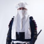 大谷刑部の頭巾を制作。